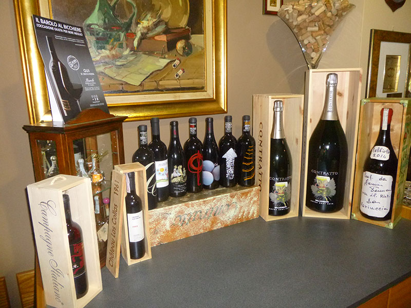 An excellent selection of piedmontese wines will satisfy even the most demanding taste.